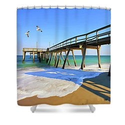 Avalon Pier Shower Curtain