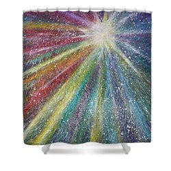 Shower Curtain featuring the painting Awakening by Amelie Simmons