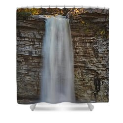 Shower Curtain featuring the photograph Awosting Water Falls Ny by Susan Candelario