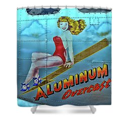 B - 17 Aluminum Overcast Pin-up Shower Curtain