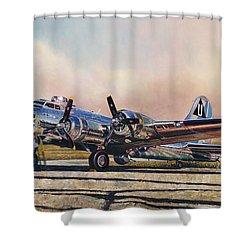 B-17g Sentimental Journey Shower Curtain