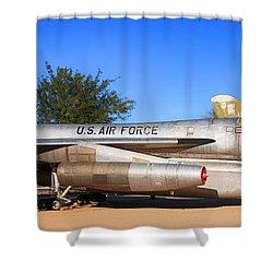B58 Hustler Sac Bomber Shower Curtain