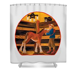 Baby Cricket's Kiss Shower Curtain