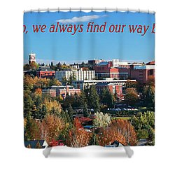 Shower Curtain featuring the photograph Back Home 2 by David Patterson