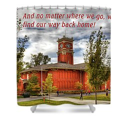 Shower Curtain featuring the photograph Back Home by David Patterson