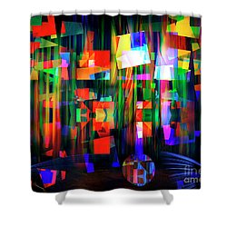 Shower Curtain featuring the digital art Back To The Future by Edmund Nagele