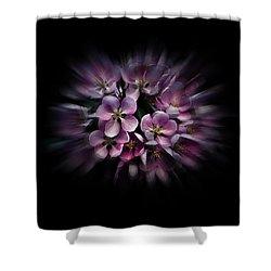 Backyard Flowers 47 Color Flow Version Shower Curtain