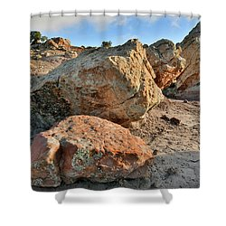 Balanced Rocks In Bentonite Site Shower Curtain