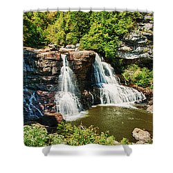 Balckwater Falls - Wide View Shower Curtain