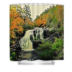 Shower Curtain featuring the photograph Bald River Falls In Autumn  by Rachel Hannah