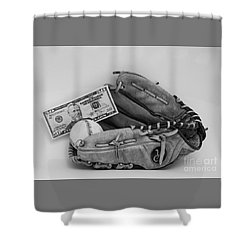 Ball And Glove Shower Curtain