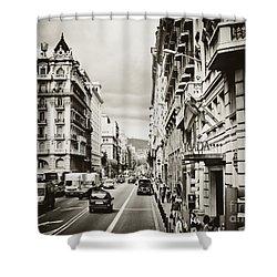 Barcelona Street Life Shower Curtain