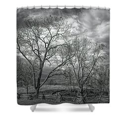 Shower Curtain featuring the photograph Barren Fields by John M Bailey