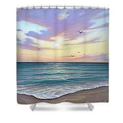 Basking In The Sunset Shower Curtain