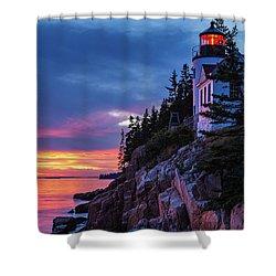 Bass Harbor Head Lighthouse At Twilight Shower Curtain