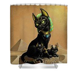 Bastet Egyptian God Shower Curtain