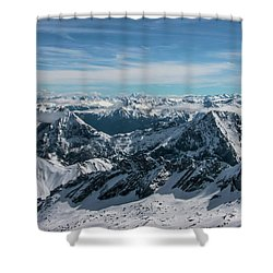 Bavarian Alps Shower Curtain