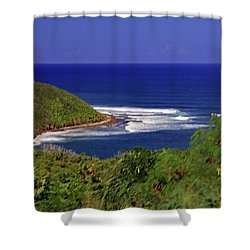 Shower Curtain featuring the photograph Bay In St Kitts by Tony Murtagh