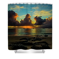 Shower Curtain featuring the photograph Beach At Sunset 2 by Stuart Manning