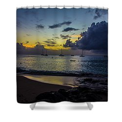 Shower Curtain featuring the photograph Beach At Sunset 3 by Stuart Manning