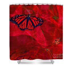 Beautiful And Fragile In Red Shower Curtain