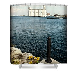 Beautiful Bluey Bay Shower Curtain
