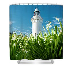 Shower Curtain featuring the photograph Beautiful Table Cape Lighthouse In Tasmania. by Rob D