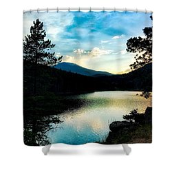 Shower Curtain featuring the photograph Beaver Brook Lake by Dan Miller