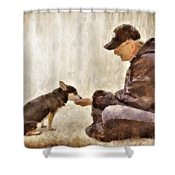 Becoming Friends Shower Curtain