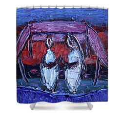 Beginning Of Journey Together Shower Curtain