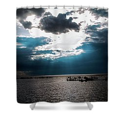 Beginning Of The End Of The Day Shower Curtain