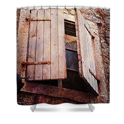 Shower Curtain featuring the photograph Behind Shutters by Randi Grace Nilsberg