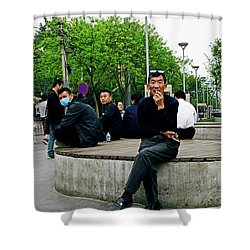 Beijing Street Shower Curtain