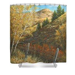 Belt Butte Autumn Shower Curtain