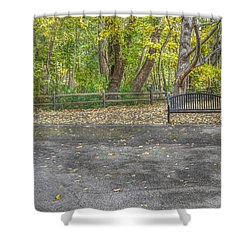 Bench @ Sharon Woods Shower Curtain