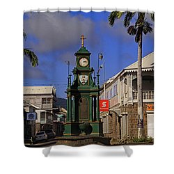 Shower Curtain featuring the photograph Berkeley Memorial Clock by Tony Murtagh