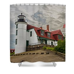 Bestie Point Lighthouse  Shower Curtain