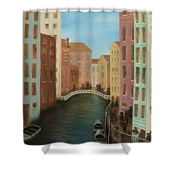Beyond The Grand Canal Shower Curtain