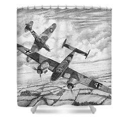 Bf-110c Zerstorer Shower Curtain