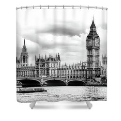 Big Clock In London Soft Shower Curtain