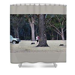 Big Gums On The Farm Shower Curtain