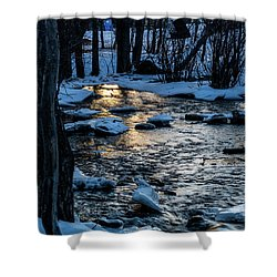 Big Hills Springs Under Snow And Ice, Big Hill Springs Provincia Shower Curtain