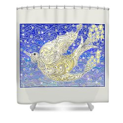 Bird Generating Stars Shower Curtain