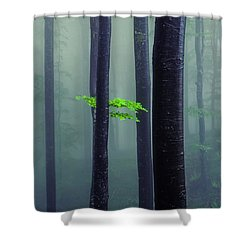 Bit Of Green Shower Curtain