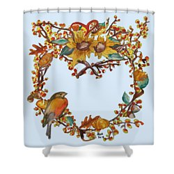 Bittersweet Wreath Shower Curtain