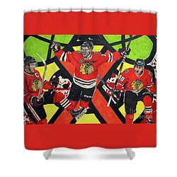Blackhawks Authentic Fan Limited Edition Piece Shower Curtain