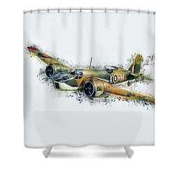 Blenheim Bomber Shower Curtain
