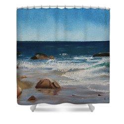 Block Island Surf Shower Curtain
