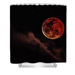 Blood Moon Rising Shower Curtain