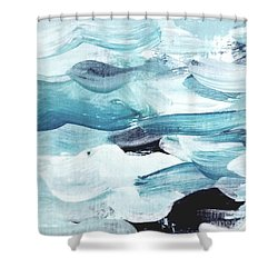 Shower Curtain featuring the painting Blue #13 by Maria Langgle